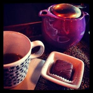 Aromatherapy tea & Truffle