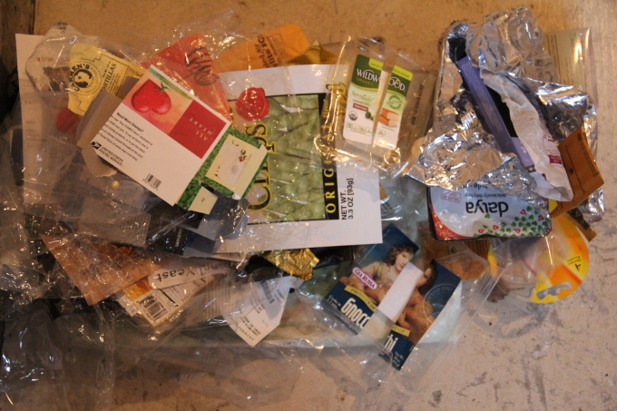 Plastic used to package foods and household items