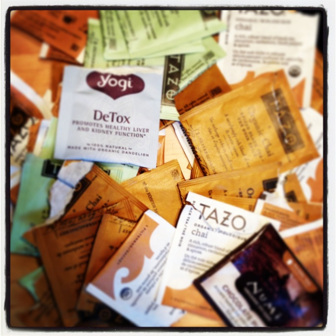 I found out that these tea bag wrappers can't be recycled as they are lined with plastic, so I am trying out bulk teas instead.