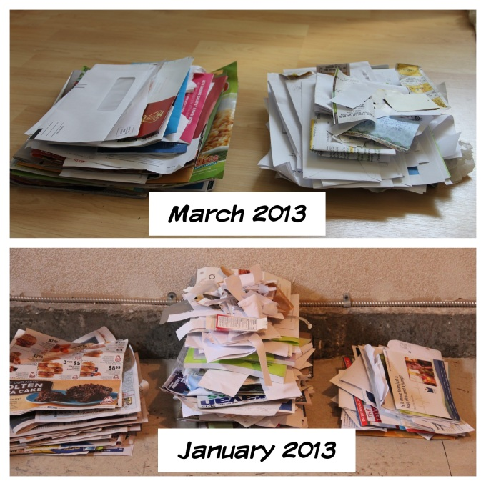 Total junk mail and paper use is less