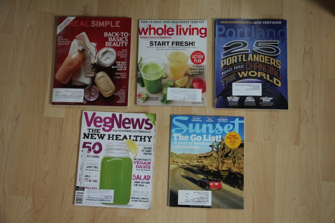 I am getting rid of the top 3 and keeping the bottom 2 magazine subscriptions