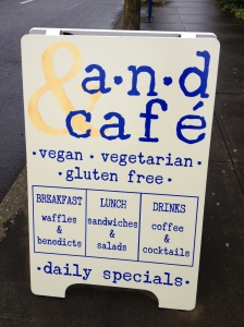 AND Cafe sign