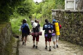 Pilgrims on the Camino