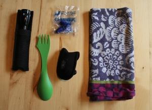 Items I used rarely on my Camino