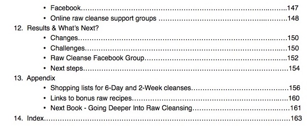 Raw Cleansing TOC 4B