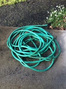 An old hose that was too long for me